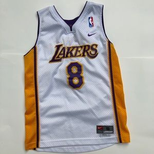 Kobe Bryant Lakers Kids Youth Jersey White Small